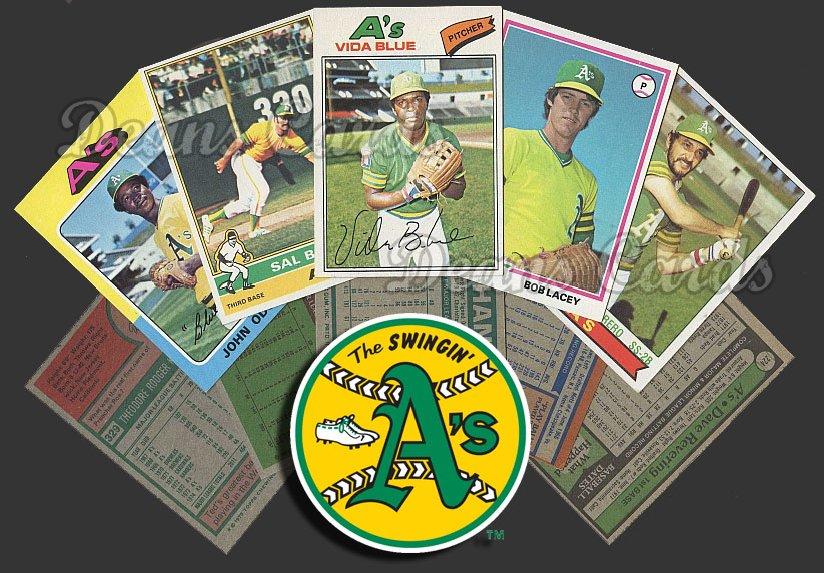 1975 Topps   -79  Oakland Athletics Team Starter Set / Lot - Md